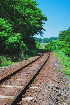 Free Railway Track Royalty Free Stock Photography - 7893497