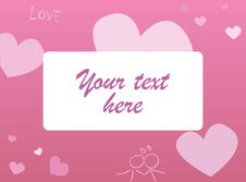 Free Vector Valentine´s Day Postcard Stock Photos - 7893893