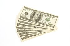Free Dollars On White Background Royalty Free Stock Images - 7893939