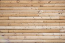 Texture Of Wooden Logs Stock Photo