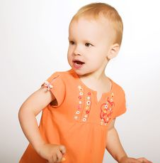 Free Funny Little Girl Stock Photo - 7894340