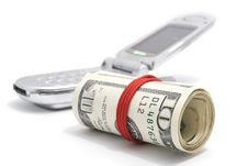 Free American Dollars With Mobile Phone Stock Photo - 7894500