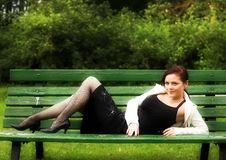 Free Girl On A Bench Stock Photos - 7895023