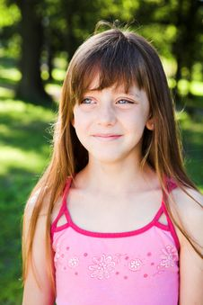 Free Portrait Of Little  Girl Playing In The Park Stock Photo - 7895130