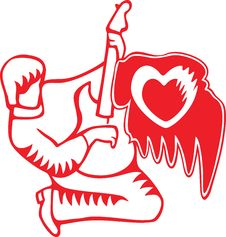 Free Guitar Player T-shirt Design Royalty Free Stock Image - 7895236