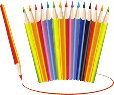 Free Crayons Royalty Free Stock Photos - 7895338