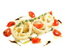 Free Salad With Calamari Rings And Sheep Cheese Royalty Free Stock Image - 7896316
