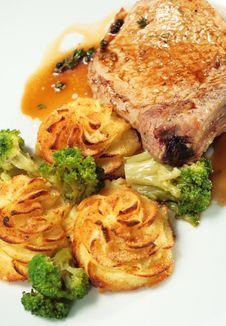 Free Pork Brisket With Potato Stock Photography - 7896392
