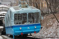 Free Railway Funicular At Winter. Kiev , Ukraine Royalty Free Stock Photos - 7896438
