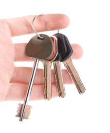 Free Bunch Of Keys In Hand Stock Photos - 7897663