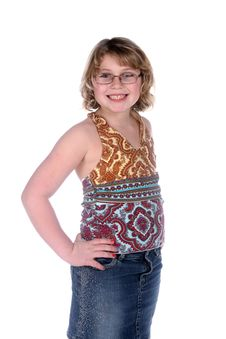 Free Cute Girl In Stylish, Colorful Tank Top Royalty Free Stock Images - 7898039