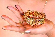 Free Golden Bracelet Stock Image - 7898091