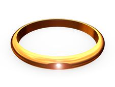 Wedding Ring With A Brilliant Brilliant. Stock Photos