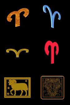 Free Aries Icon Set Royalty Free Stock Photo - 7899635
