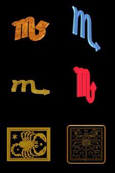 Free Scorpio Icon Set Royalty Free Stock Image - 7899796