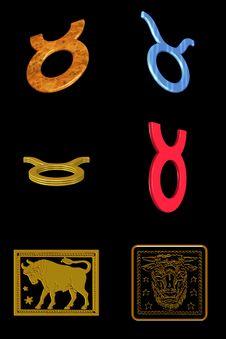 Free Taurus Icon Set Royalty Free Stock Image - 7899806