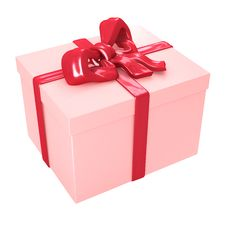 Free Gift Box With Red Ribbons Stock Photography - 7899812