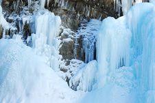 Free Ice Fall In Johnson Canyon Royalty Free Stock Photos - 7899928