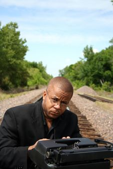 Free Writer On The Tracks Stock Photography - 790672