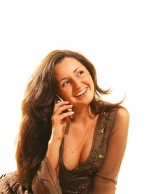 Free The Girl With The Phone Royalty Free Stock Image - 791106