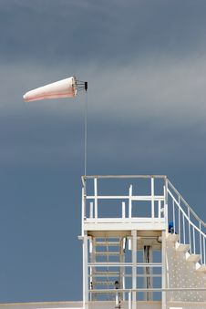Free Wind Sock On Oil Storage Tank Royalty Free Stock Photography - 791107