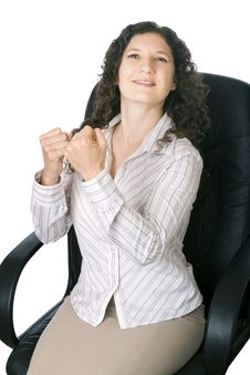 Businesswoman Is The Winner Stock Photography