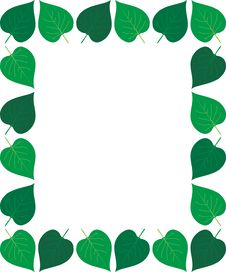 Free Leaves Frame Stock Image - 792051