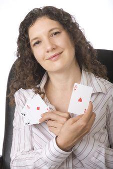 Businesswoman, Queen Of Hearts, Stock Photo