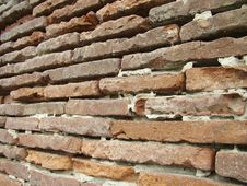 Free Weathered Brickwall Toulouse France Stock Image - 792961