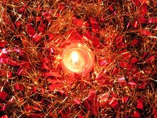 Free Tinsel And Candle. Stock Photos - 793003