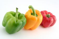 Free Green Yellow And Red Peppers Stock Image - 793571