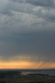 Free Rain And Sunset Royalty Free Stock Photography - 793777