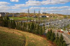 Electric Power Station And River Royalty Free Stock Photo