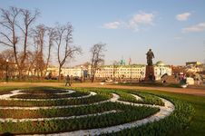 Free Spring Garden In Moscow. Royalty Free Stock Photo - 794745