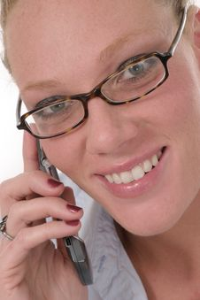 Free Business Woman With Cellphone 6921 Stock Image - 795601