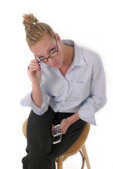 Free Business Woman With Cellphone 6918 Royalty Free Stock Photo - 795615