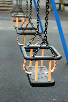 Free Swings On The Playground Stock Images - 795644