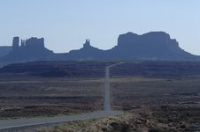 Free Road To Monument Valley 1 Stock Image - 795751