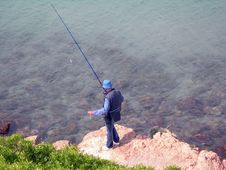 Free Alone Man Fishing Stock Photos - 796133