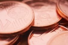 Free Pile Of Euro Cents Stock Photography - 796312