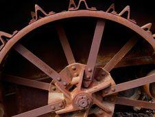 Old Rusty Steel Wheel Royalty Free Stock Photos