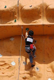 Free Lady Rock Climber 11 Stock Image - 797031