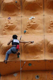 Free Lady Rock Climber12 Stock Photography - 797032