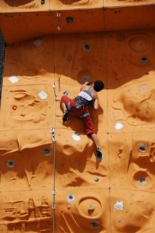 Free Lady Rock Climber3 Royalty Free Stock Images - 797049