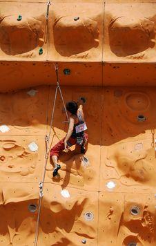 Free Lady Rock Climber5 Stock Image - 797051