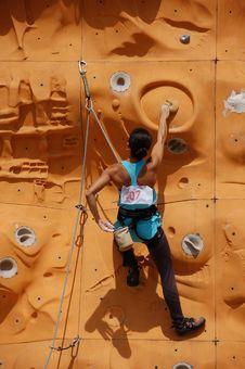 Free Lady Rock Climber 8 Royalty Free Stock Photo - 797055