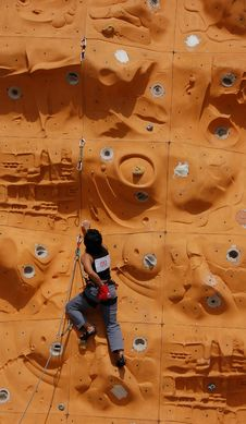 Free Lady Rock Climber9 Royalty Free Stock Photo - 797065