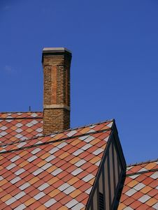 Free Pink And Red Tile Shingles On A Roof Royalty Free Stock Images - 797179