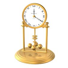 Free Golden Clock Royalty Free Stock Photo - 797795