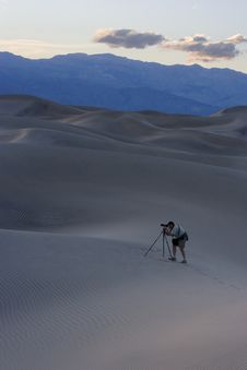 Photographing The Dunes Royalty Free Stock Photography